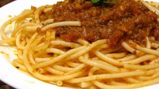 パスタの王道!スパゲッティミートソースの無料写真