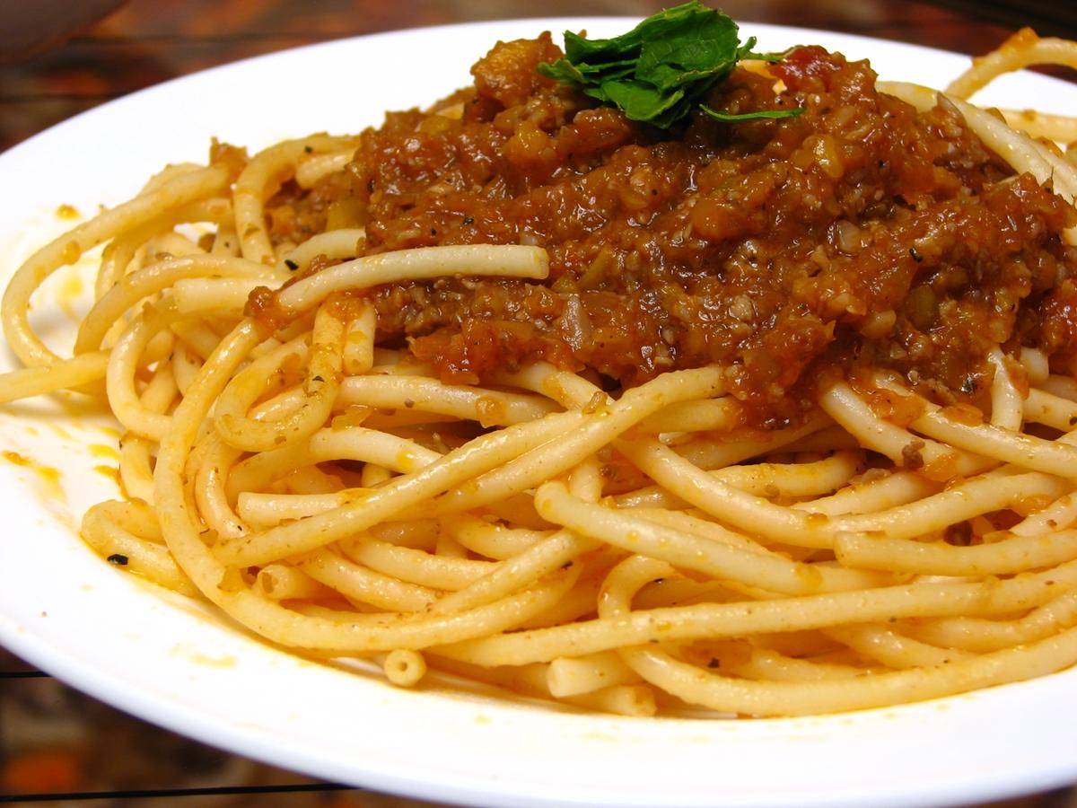 スパゲッティミートソースパスタ