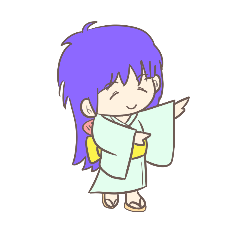 盆踊り 青髪