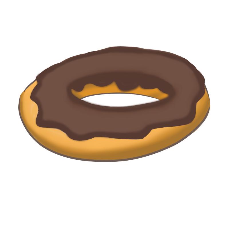 ドーナツのイラスト(チョコレート)