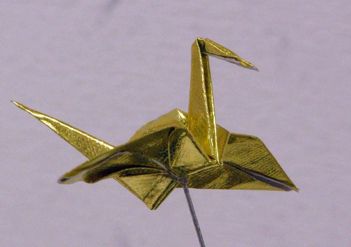 折鶴(金色)