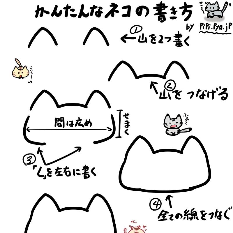 メッチャ簡単な猫のイラストの書き方