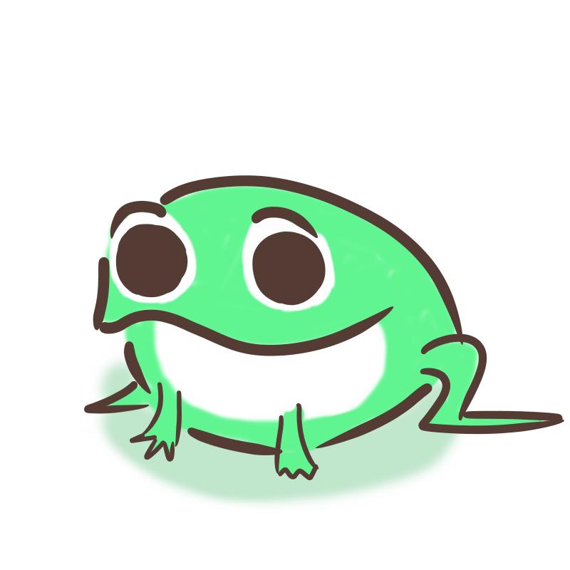 カエルのイラスト(試作機)