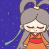 七夕の織姫様の無料イラスト
