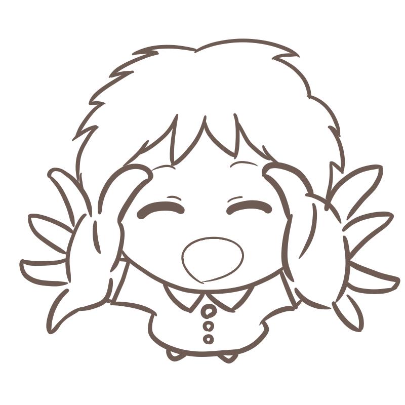 抱っこをねだる幼稚園児(男の子 線画)