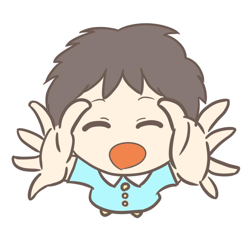 抱っこをねだる幼稚園児(男の子)