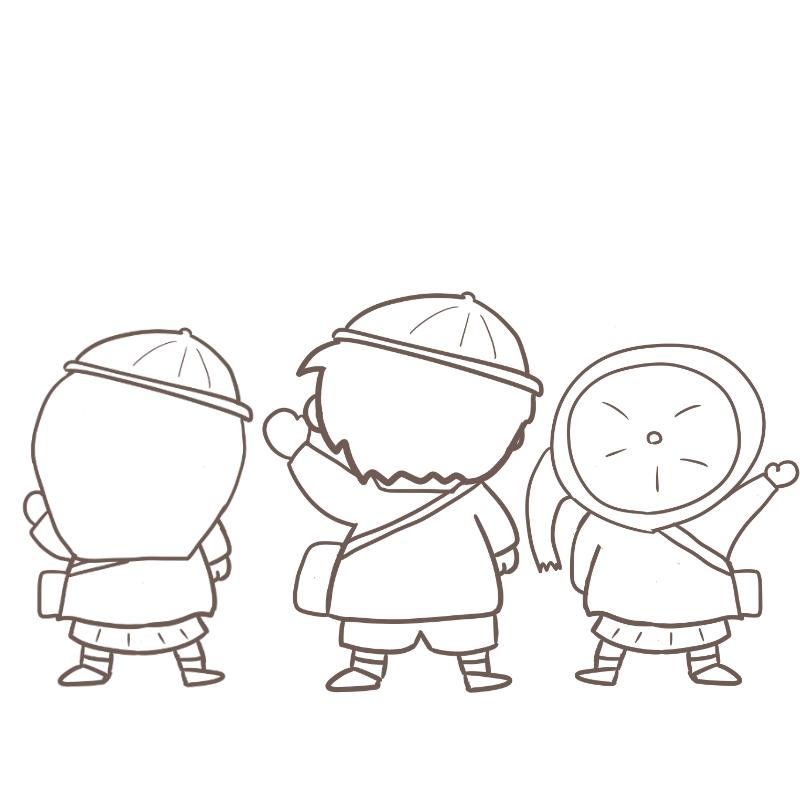 入園式 ワンピース風(線画)