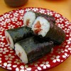 庶民の味方!回転寿司の鉄火巻きの無料写真