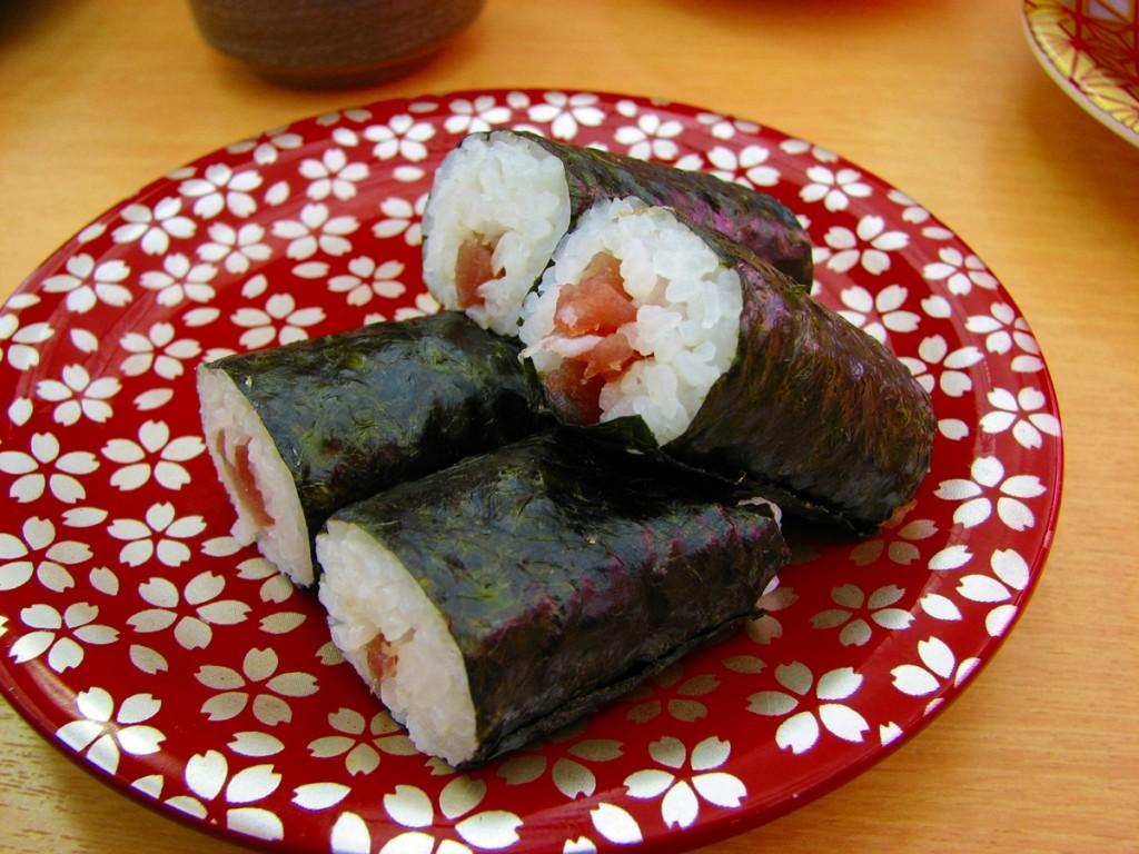 鉄火巻き(回転寿司)の無料写真20150610-00