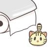 トイレでトイレットペーパーを見つけてしまった子猫のフリーイラスト