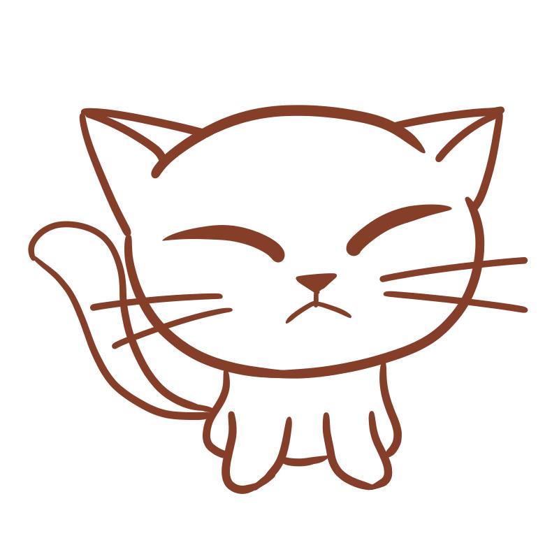 白猫(線画)