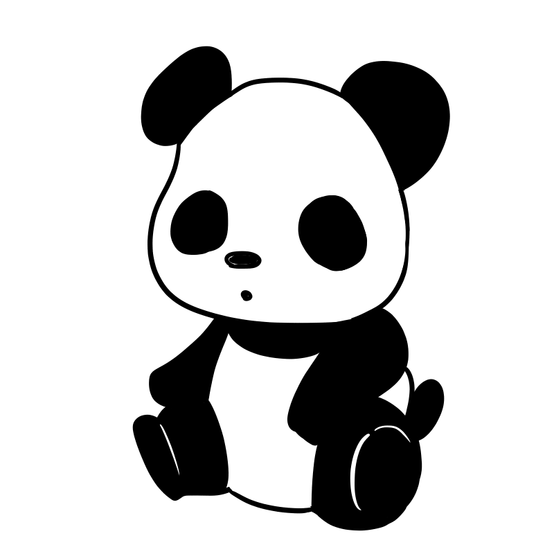 パンダのイラスト試作品