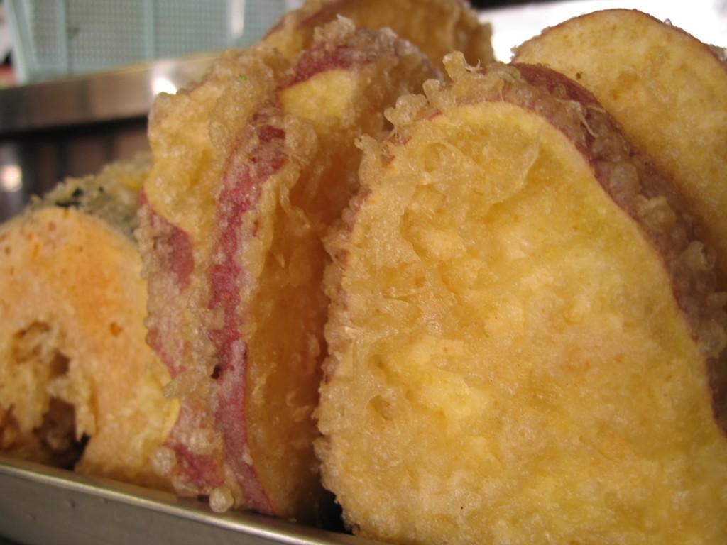サツマイモの天ぷらoldpicture