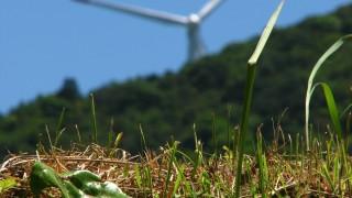 高知県で見かけた風車のフリー写真