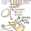 愛情たっぷり♡ハート形のゆでたまごの作り方のフリーイラスト