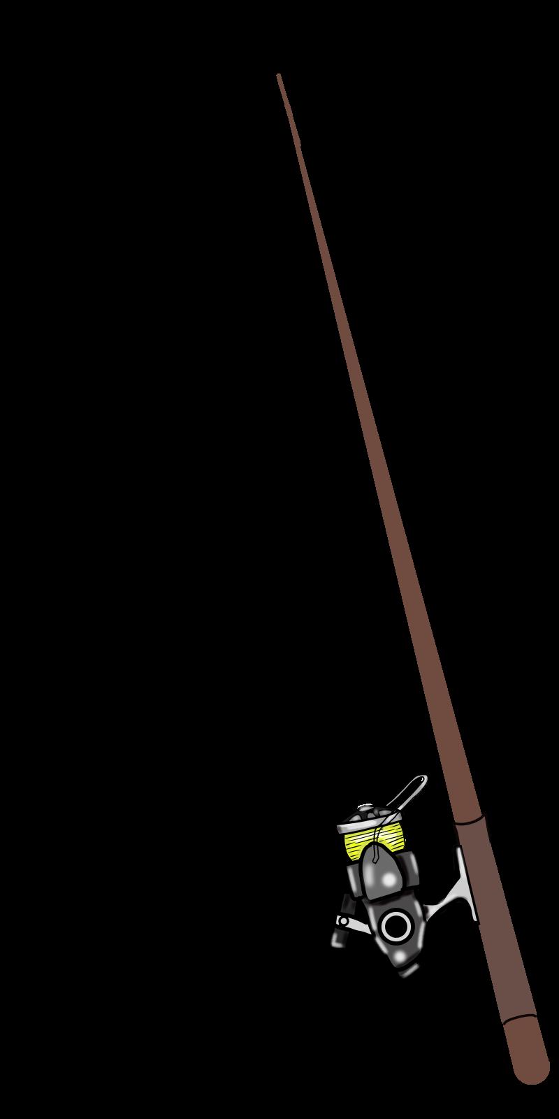 仕掛けは自分で書いてよね♡釣り竿とリールの無料イラスト2015-6-8 手竿
