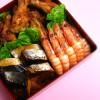 おせち料理(三段重)のフリー写真