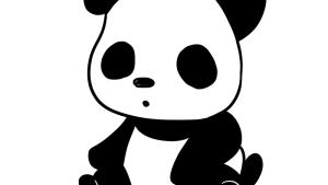 可愛いパンダのフリーイラスト