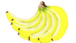 朝一本の健康食!バナナのフリーイラスト