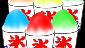 イチゴ、メロン、抹茶!露店のかき氷の無料イラスト集